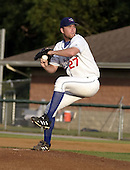 August 9, 2004:  Pitcher Casey Janssen of the Auburn Doubledays, Short-Season Single-A affiliate of the Toronto Blue Jays, during a game at Falcon Park in Auburn, NY.  Photo by:  Mike Janes/Four Seam Images