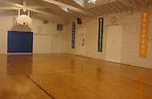 """Silver Spring, MD - October 28, 2002 -- Interior of the basketball court at the YMCA Silver Spring, where """"Beltway Sniper"""" John Malvo sometimes came to shoot baskets. <br /> Credit: Ron Sachs / CNP<br /> (RESTRICTION: NO New York or New Jersey Newspapers or newspapers within a 75 mile radius of New York City)"""