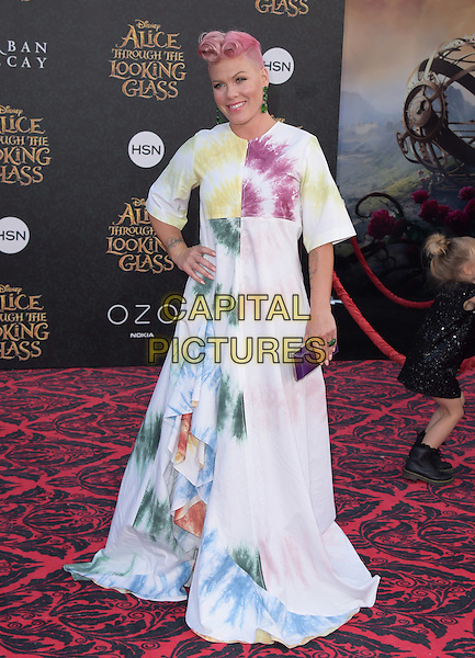 Pink ( Alecia Beth Moore ) attends The Premiere Of Disney's &quot;Alice Through The Looking Glass&quot; held at The El Capitan Theatre  in Hollywood, California on May 23,2016                                                                                <br /> CAP/DVS<br /> &copy;DVS/Capital Pictures