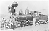 3/4 fireman's-side view of D&amp;RG Engine #162 posing with her crew.<br /> D&amp;RG