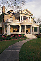 AJ4011, antebellum, mansion, Alabama, An Antebellum Home in the Seth Lore Historic District in Eufaula in the state of Alabama.