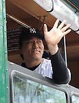 Hideki Matsui (Yankees), MAY 24, 2014 - MLB : Former New York Yankees player Hideki Matsui rides in the parade before the Hall of Fame Classic baseball game in Cooperstown, New York, United States. (Photo by AFLO)