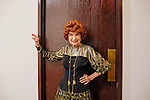 """Gina Mohr, 91, poses in a dress she made at the Sun City Ballroom Dance Club's weekly dance in Bell's Social Hall December 1, 2013. """"I don't have a favorite dance,"""" she said, """"I like them all."""""""