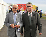 Lester Pickettand Jim Corcoran Chairpersof of Bellewstown races.Picture Fran Caffrey www.newsfile.ie