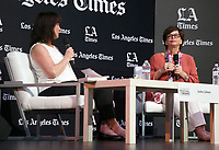 13 April 2019 - Los Angeles, California - Valerie Jarrett, Jackie Calmes. 2019 Los Angeles Times Festival Of Books held at University of Southern California.  <br /> CAP/ADM/FS<br /> ©FS/ADM/Capital Pictures