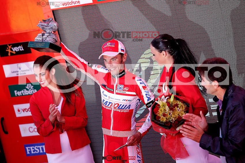 Joaquin Purito Rodriguez celebrates the victory in the stage of La Vuelta 2012 between Vilagarcia de Arousa and Mirador de Erazo (Dumbria).August 30,2012. (ALTERPHOTOS/Acero) /NortePhoto.com<br /> <br /> **CREDITO*OBLIGATORIO** <br /> *No*Venta*A*Terceros*<br /> *No*Sale*So*third*<br /> *** No*Se*Permite*Hacer*Archivo**<br /> *No*Sale*So*third*