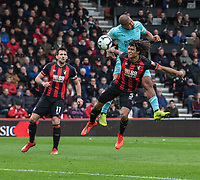 Bournemouth's Nathan Ake (right) battles with Newcastle United's Jose Salomon Rondon (left) <br /> <br /> Photographer David Horton/CameraSport<br /> <br /> The Premier League - Bournemouth v Newcastle United - Saturday 16th March 2019 - Vitality Stadium - Bournemouth<br /> <br /> World Copyright © 2019 CameraSport. All rights reserved. 43 Linden Ave. Countesthorpe. Leicester. England. LE8 5PG - Tel: +44 (0) 116 277 4147 - admin@camerasport.com - www.camerasport.com