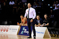 Sharks' Coach Judd Flavell during the  NBL - Cigna Saints v Southland Sharks at TSB Bank Arena, Wellington, New Zealand on Thursday 25 April 2019. <br /> Photo by Masanori Udagawa. <br /> www.photowellington.photoshelter.com