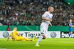 10.08.2019, wohninvest WESERSTADION, Bremen, GER, DFB-Pokal, 1. Runde, SV Atlas Delmenhorst vs SV Werder Bremen<br /> <br /> im Bild<br /> Jubel 1:4, <br /> Davy Klaassen (Werder Bremen #30) bejubelt seinen Treffer zum 1:4, Florian Urbainski (SV Atlas Delmenhorst #01) geschlagen, <br /> <br /> während DFB-Pokal Spiel zwischen SV Atlas Delmenhorst und SV Werder Bremen im wohninvest WESERSTADION, <br /> <br /> Foto © nordphoto / Ewert