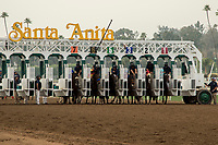 ARCADIA, CA  JANUARY 06:The start of the Sham Stakes (Grade lll) on January 6, 2018, at Santa Anita Park in Arcadia, CA. (Photo by Casey Phillips/ Eclipse Sportswire/ Getty Images)