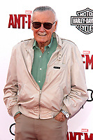 ^^^FILE PHOTO*** STAN LEE SUES FORMER COMPANY FOR ONE BILLION DOLLARS IN ALLEGED FRAUDULENT SALES AGREEMENT<br /> HOLLYWOOD, CA - JUNE 29: Stan Lee at the premiere of Marvel's 'Ant-Man' at the Dolby Theatre on June 29, 2015 in Hollywood, California.  <br /> CAP/MPI/DE<br /> &copy;DE/MPI/Capital Pictures
