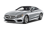 2015 Mercedes Benz S-Class S550 2 Door Coupe Angular Front stock photos of front three quarter view