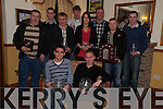 Pictured at the Killarney and District motor club awards night in Darby O'Gills, KIllarney, on Friday night were Keith Cronin, Paul Nagle, Brendan Brosnan, Shane Buckley, Stephen O'Donovan, Denis Cronin, Cathy Healy, Diarmuid Cronin, chairman, Padraig Moriarty and Fionn Foley.