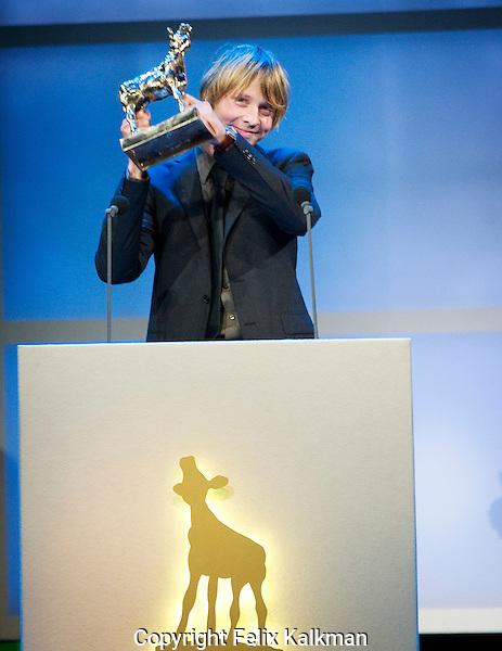 Utrecht, 2 oktober 2009.Nederlands Film Festival 2009.Uitreiking Gouden Kalveren.Daniel Bouquet, Gouden Kalf Beste Camera voor Nothing Personal.Foto: Felix Kalkman..