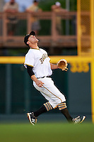 Bradenton Marauders second baseman Kevin Kramer (14) calls for a popup during a game against the Fort Myers Miracle on April 9, 2016 at McKechnie Field in Bradenton, Florida.  Fort Myers defeated Bradenton 5-1.  (Mike Janes/Four Seam Images)