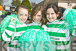 Killarney Celtic girls Anna Clifford, Kate Murphy and Alara Tobin having fun at the Killarney St Patrick's day parade on Saturday Judy Rezin, Andrea Thornton, Brid Mills and Betty Rohan ..