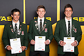 Boys Volleyball finalists Jesse Hawkins, Thomas Hartles and Mitchell Hobson. ASB College Sport Young Sportsperson of the Year Awards held at Eden Park, Auckland, on November 24th 2011.