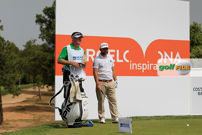 Andy Sullivan (ENG) on the 5th tee during the Pro-Am of the Open de Espana  in Club de Golf el Prat, Barcelona on Wednesday 13th May 2015.<br /> Picture:  Thos Caffrey / www.golffile.ie