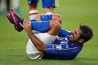 Italy Eder reacts after being injured during the Fifa World Cup 2018 qualification soccer match between Italy and Spain at Turin's Juventus Stadium, October 6, 2016. The game ended 1-1.<br /> UPDATE IMAGES PRESS/Isabella Bonotto