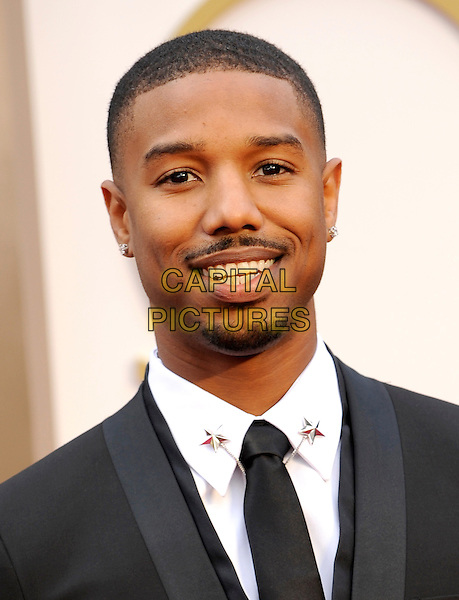 HOLLYWOOD, CA - MARCH 2: Michael B. Jordan arriving to the 2014 Oscars at the Hollywood and Highland Center in Hollywood, California. March 2, 2014.  <br /> CAP/MPI/mpi99<br /> &copy;mpi99/MediaPunch/Capital Pictures