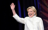 Former United States Secretary of State Hillary Clinton, the 2016 Democratic Party nominee for President of the United States waves as she arrives on stage a the Congressional Black Caucus Foundation's 46th Annual Legislative Conference Phoenix Awards Dinner, at the Washington Convention Center, September 17 2016, in Washington, DC. <br /> Credit: Olivier Douliery / Pool via CNP
