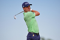 Justin Thomas (USA) watches his tee shot on 13 during Friday's round 2 of the 117th U.S. Open, at Erin Hills, Erin, Wisconsin. 6/16/2017.<br /> Picture: Golffile | Ken Murray<br /> <br /> <br /> All photo usage must carry mandatory copyright credit (&copy; Golffile | Ken Murray)