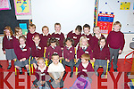 SCHOOL: The new pupils who on their first day at Kilmoyley NS on Thursday  Front l-r: Oisin Kearney,  Jevon Carey and Ethan O'Hara. 2nd row l-r: Caoimhe Regan, Sarah Dineen, Caoilinn and Caragh Kenny O'Sullivan, Natalia Peczak and Rachel Flaherty. Back l-r: Grainne Carroll, Ruth O'Connor, Tomas Godley, Connie Horgan, Darragh Corridan, Ciaran Sheehy, Colm McElligott, Shayne Stack and Brendan O'Sullivan.....