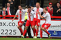 Michael Doughty of Stevenage (2nd l) (on loan from QPR) celebrates scoring their second goal<br />  - Stevenage v Crawley Town - Sky Bet League 1 - Lamex Stadium, Stevenage - 26th October, 2013<br />  © Kevin Coleman 2013<br />  <br />  <br />  <br />  <br />  <br />  <br />  <br />  <br />  <br />  <br />  <br />  <br />  <br />  <br />  <br />  <br />  <br />  <br />  <br />  <br />  <br />  <br />  <br />  <br />  <br />  <br />  <br />  <br />  <br />  <br />  <br />  <br />  <br />  <br />  <br />  <br />  <br />  <br />  <br />  <br />  <br />  <br />  <br />  <br />  <br />  <br />  <br />  <br />  <br />  <br />  <br />  - Crewe Alexandra v Stevenage - Sky Bet League One - Alexandra Stadium, Gresty Road, Crewe - 22nd October 2013. <br /> © Kevin Coleman 2013