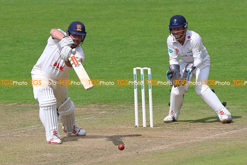 Jesse Ryder in batting action for Essex as Mark Wallace looks on from behind the stumps during Glamorgan CCC vs Essex CCC, Specsavers County Championship Division 2 Cricket at the SSE SWALEC Stadium on 23rd May 2016