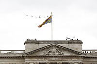 Hawk T1<br /> RAF centenary fly-past at Buckingham Palace, The Mall, London England on July 10, 2018.<br /> CAP/PL<br /> &copy;Phil Loftus/Capital Pictures