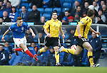 Lewis MacLeod has a shot from range