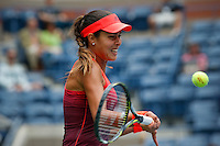 Ana Ivanovic of Serbian returns the ball to Dominika Cibulkova of Slovak during their match at the Arthur Ashe stadium during the US Open 2015 Tennis Tournament in New York. 08.31.2015.  Eduardo MunozAlvarez/VIEWpress.