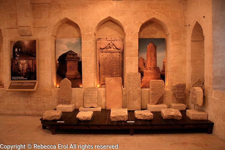 Ottoman tombstones at the Sakip Sabanci Museum, Mardin, southeastern Turkey