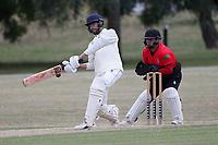 Prashant Chand-Bajpai of Buckhurst Hll during Hornchurch CC vs Buckhurst Hill CC (batting), Essex Cricket League Cricket at Harrow Lodge Park on 25th July 2020