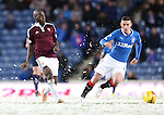 Morgaro Gomis and Fraser Aird in the snow