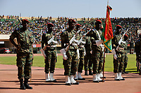 BURKINA FASO, armed soldier at parade in Stadium in Ougadougou /<br />