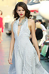 Georgia walks runway in a Douglas Hannant Resort 2012 outfit, on the USS Intrepid, June 7, 2011.