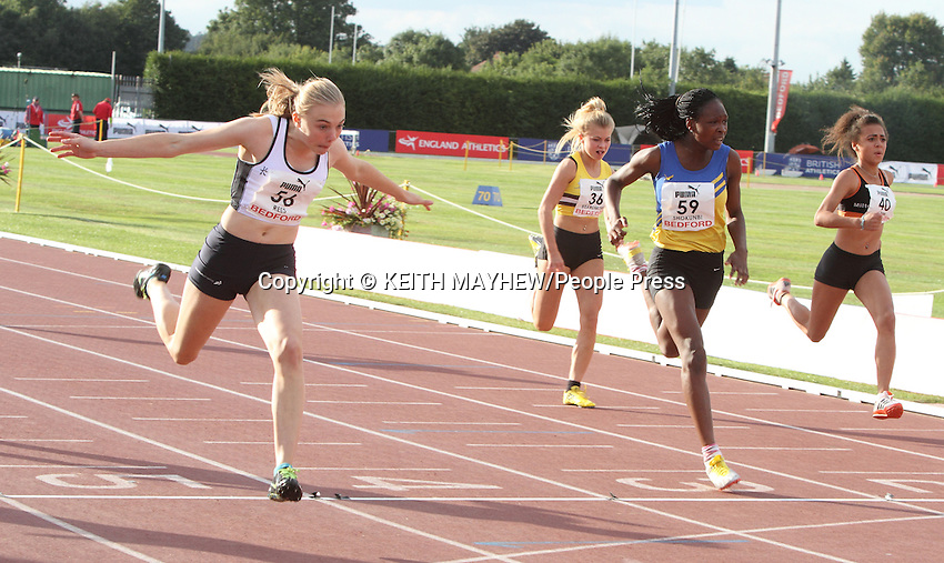 England Athletics Under 15s and Under 17s Track and Field Championships Day One, at Bedford International Athletic Stadium, Bedford, UK - August 31st 2013<br /> <br /> Photo by Keith Mayhew