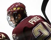 Matt Price (BC - 25) - The Northeastern University Huskies defeated the Boston College Eagles 3-2 on Friday, February 19, 2010, at Matthews Arena in Boston, Massachusetts.