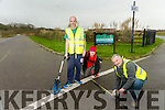 Measuring the Route for the marathon. Pictured Martin O'Sullivan Race Director, Tralee Marathon, Danny O'Shea and Vincent Guthrie