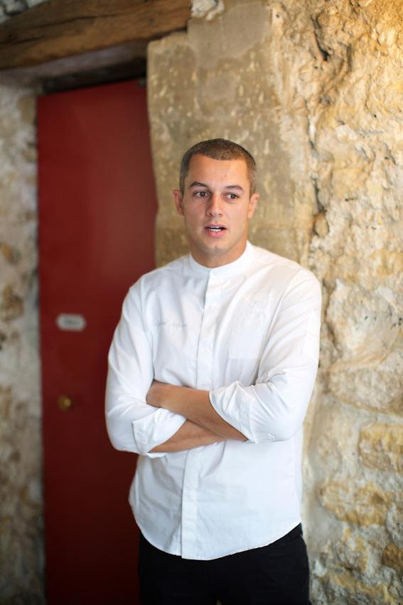 PARIS, France - June 8, 2017: In the kitchen with Chef de Cuisine Rafael Gomes at Grand Coeur in the Marais.<br /> <br /> <br /> Credit: Clay Williams.<br /> <br /> &copy; Clay Williams / http://claywilliamsphoto.com