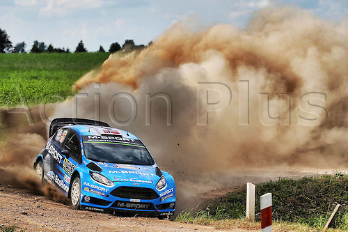 02.07.2016. Mikolajki, Poland. WRC Rally of Poland, stages 12-17.  Mads Ostberg (NOR) and Ola Floene (NOR) - Ford Fiesta RS WRC