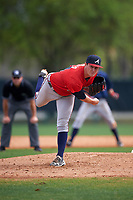 Atlanta Braves pitcher Chris Ellis (14) during an intrasquad Spring Training game on March 25, 2016 at ESPN Wide World of Sports Complex in Orlando, Florida.  (Mike Janes/Four Seam Images)