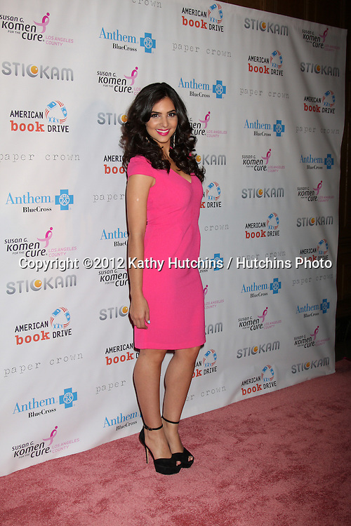 LOS ANGELES - OCT 13:  Camila Banus arrives at the Susan G. Komen 'Designs for the Cure' Gala at Millennium Biltmore Hotel on October 13, 2012 in Los Angeles, CA