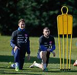 15.03.2019 Rangers training: Nikola Katic and Eros Grezda