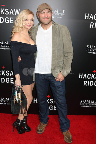 BEVERLY HILLS, CA - OCTOBER 24: Mindy Couture, Randy Couture at the screening of Summit Entertainment's 'Hacksaw Ridge' at Samuel Goldwyn Theater on October 24, 2016 in Beverly Hills, California. Credit: David Edwards/MediaPunch