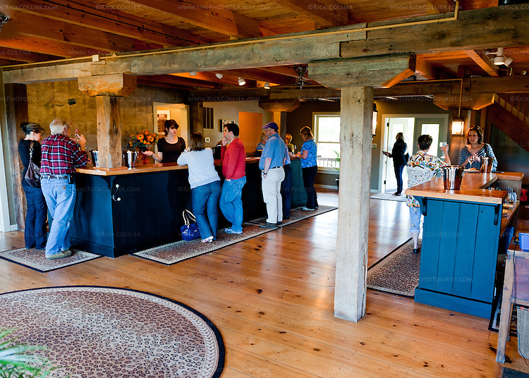 The tasting room at Linden Vineyard.