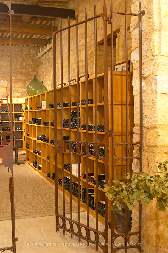 The chapel converted into tasting room and wine shop. Domaine Mas Gabinele. Faugeres. Languedoc. The wine shop and tasting room. France. Europe.