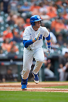 T.J. Collett (5) of the Kentucky Wildcats hustles down the first base line against the Sam Houston State Bearkats during game four of the 2018 Shriners Hospitals for Children College Classic at Minute Maid Park on March 3, 2018 in Houston, Texas. The Wildcats defeated the Bearkats 7-2.  (Brian Westerholt/Four Seam Images)
