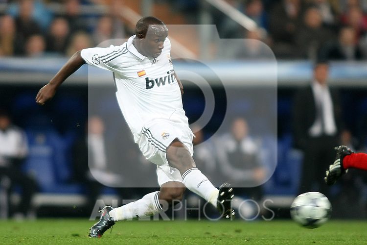 Real Madrid's Lassana Diarra during the UEFA Champions League match. February 25 2009. (ALTERPHOTOS/Acero).